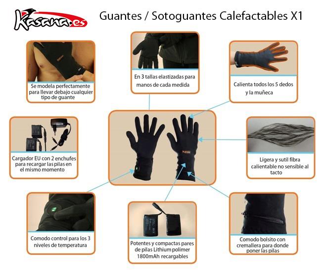 Sotoguantes Calefactables Blazewear X1